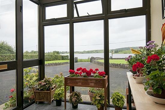 Desmond Lodge: Entrance Porch - overlooking Lough Gur 