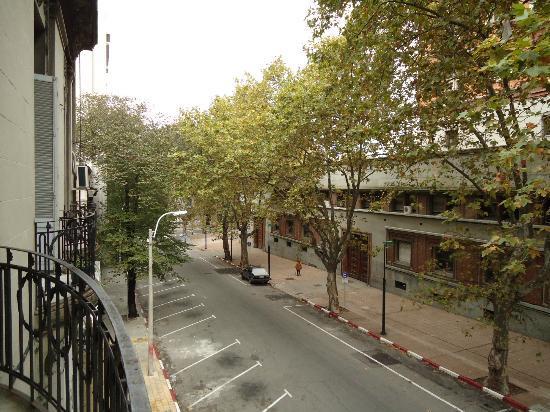 Red hostel: Sacada e vista do apartamento