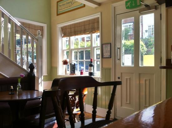 The Old Coach & Horses: Bar and stairs to restaurant