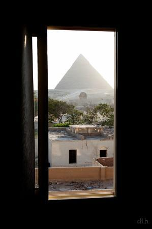 Pyramids View Inn: view from room