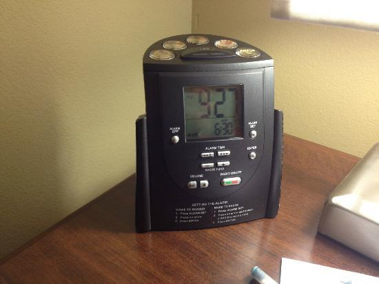 Homewood Suites by Hilton Binghamton/Vestal: bedside alarm