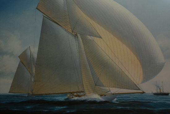 Australian Sailing Museum: Flying Home, depicting an early America's Cup event.