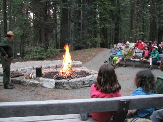 Crane Flat Campground: Ranger stories at the Ampitheater