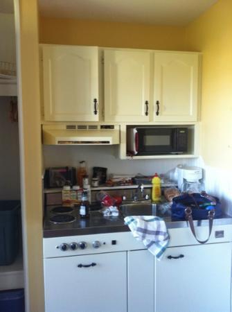 Shining Waters - Ingleside Resort: kitchenette at ingliside motel