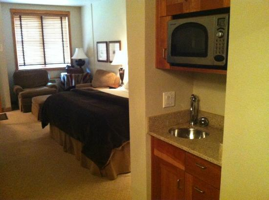 The Hotel Telluride: Wet bar & microwave