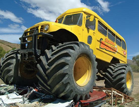 the worlds biggest school bus picture of cardrona