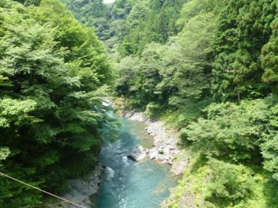 Okutama-machi, Ιαπωνία: 吊り橋からみえるながめ