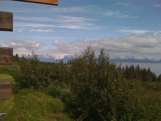 Alaska Adventure Cabins: View of Glacier from porch.