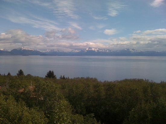 Alaska Adventure Cabins: View of the bay from porch.