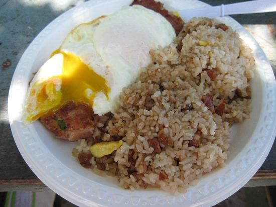 Pine Tree Cafe: Breakfast Plate with Fried Rice and Corned Beef