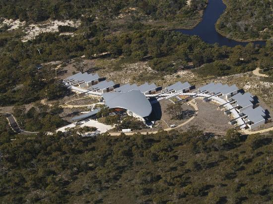 Saffire Freycinet: Saffire as seen from the air