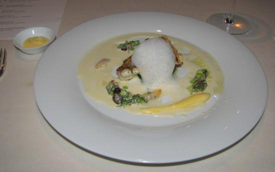 Gourmetrestaurant Vendome: sole in white butter and lemon holandaise