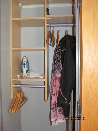 Charlesmark Hotel: closet (also drawers under the bed)