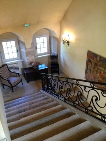 Chateau De Germigney: son très bel escalier