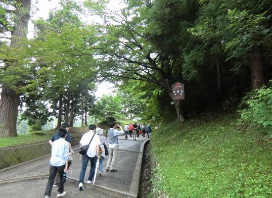 Hiraizumi-cho, Japan: 月見坂・急坂です