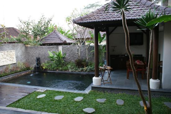 The Kampung Ubud Villa: Piscina y cocina