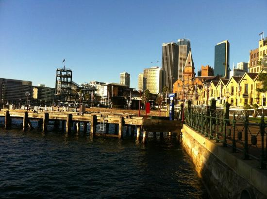 Park Hyatt Sydney : View of from the front of the hotel - a tranquil backwater, a stone's throw from The Rocks