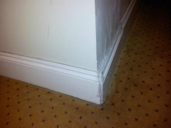 Grange Lancaster Hotel: The nastiness of room #5. It's falling apart and the carpets have seen better days.
