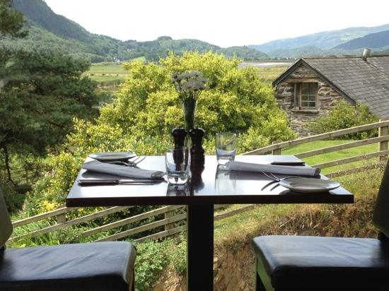 Bwyty Mawddach Restaurant: amazing view from our table
