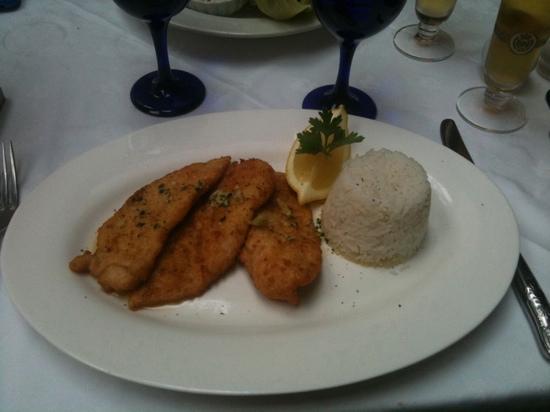 The Vienna Restaurant: chicken schnitzel