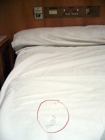 Gran Hotel Libertad:                   Sabanas agujereadas (habitacion-appart 211)