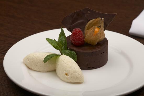 Mussi's: Dark chocolate torte with Amaretto cream