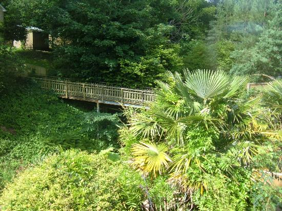 Upper Chine Holiday Cottages & Apartments: Hideaway Cottage Shanklin. view from the bedroom.