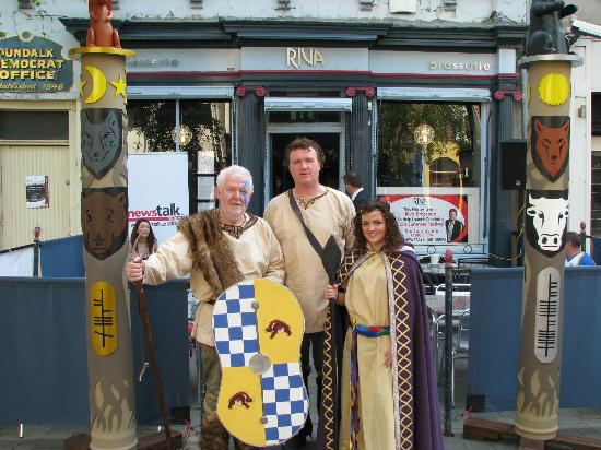 Riva Brasserie: Celebrating the start of the Taìn Festival Tim Mullens and friends in celtic costume.