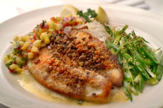 Adelle's: Pecan Crusted Tilapia