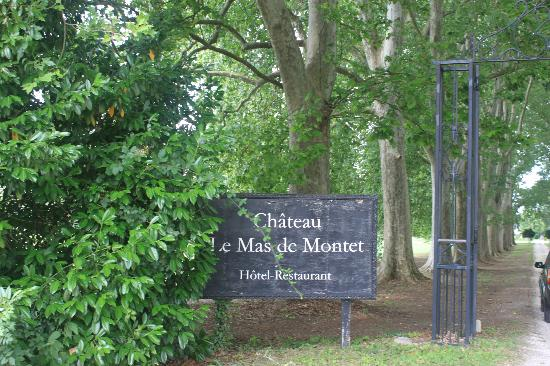 Chateau Le Mas de Montet: Entrance to Chateau