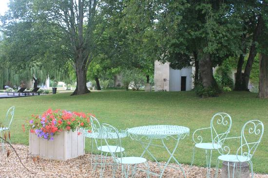 Chateau Le Mas de Montet : Pool & Gardens
