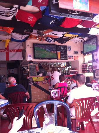 Beeches Brook: Watching the England game...