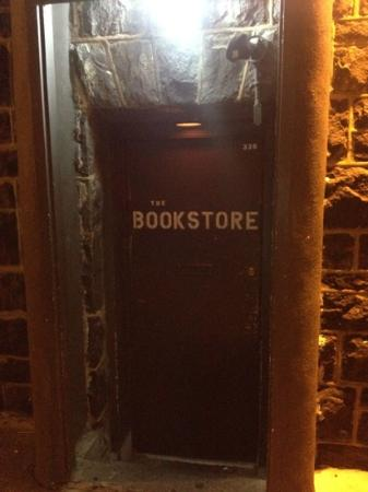 very secret entrance picture of the bookstore