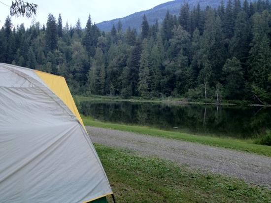Williamson's Lake Campground: loved the view from our tent