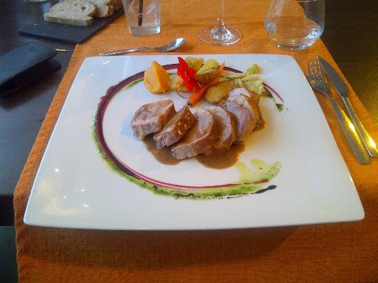 El Taller: Varkenshaasje met fois gras saus