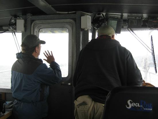 Weather Permitting Alaska - Whale Watching: Cap.Greg&FirstMate Harry Searching for Whales