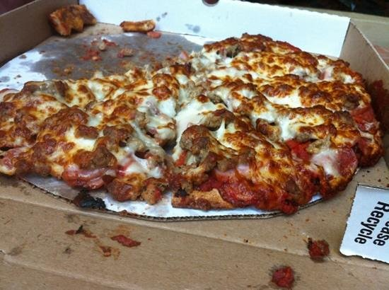 "Jordano's Pizza: ""All Meat Pizza"". I'm not big on pizza, but this one I could eat every day for breakfast, lunch"