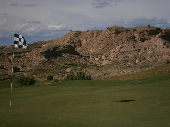 Black Mesa Golf Club: Looking back from 12 green