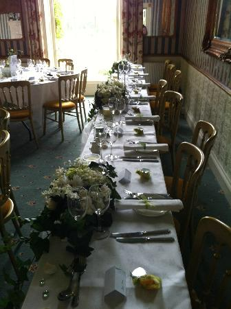Shapwick, UK: Top table
