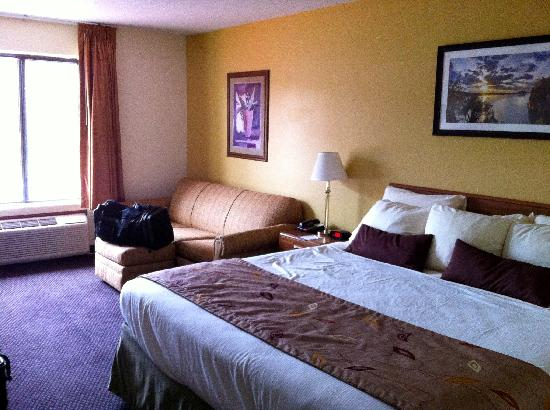 Ramada Wisconsin Dells: Upgraded to this King bed room