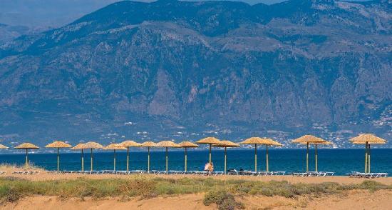 Messini, Griekenland: Hotel beach