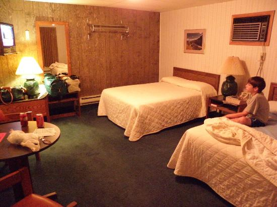 Welsh's Motel: Wood paneling....check
