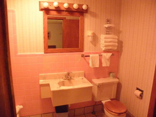Welsh's Motel: Sooo cute pink retro bathroom