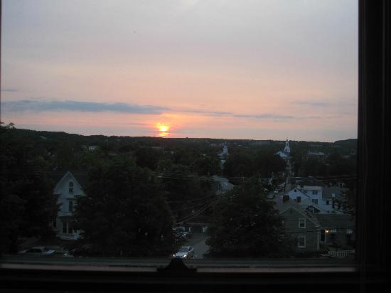 Pleasant Street Inn: sunset over the village from Rm. 6