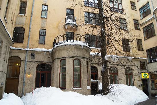 Art Hotel Laine: вид со двора