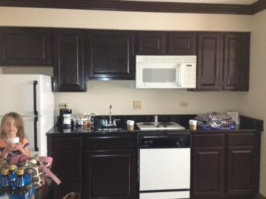 Hampton Inn & Suites Hoffman Estates: Almost full size suite kitchen