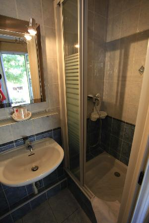 Hotel Le Ponteil : Bathroom/shower at room no 7