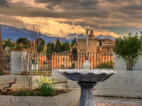 Huerta del Laurel: Vista de la Alhambra desde el Albaizín