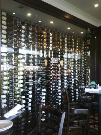 Daily Grill - Tulsa: Liquer and Wine Wall