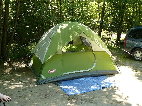 Restoule Provincial Park Our new Coleman Sundome 6 person tent Green Version 2012. & Our new Coleman Sundome 6 person tent Green Version 2012 ...